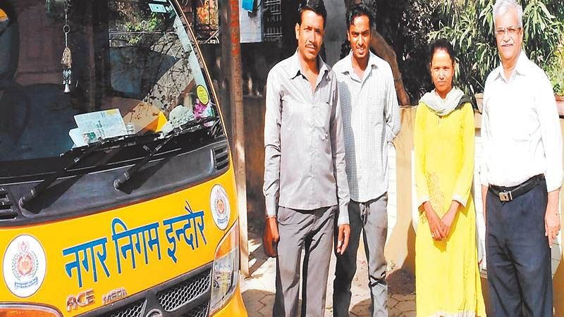 Indore: Women driver of garbage vehicle honoured