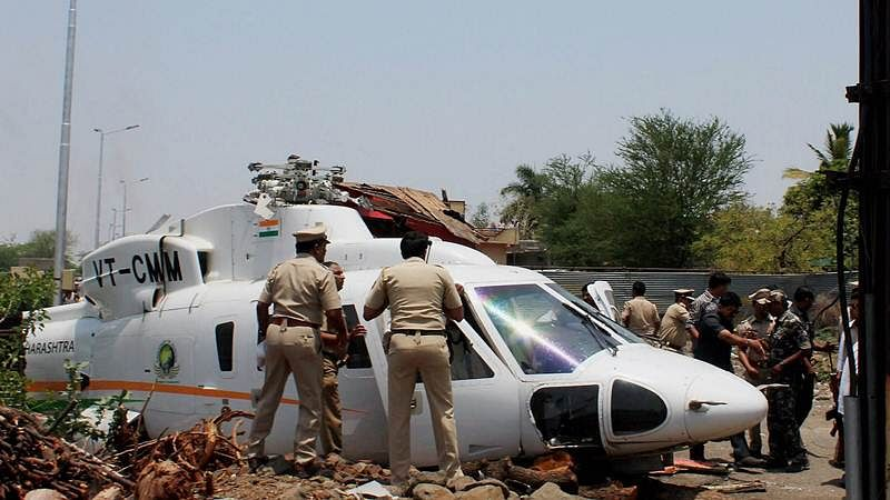 Maharashtra CM Devendra Fadnavis' chopper crash-lands in Latur, he escapes unhurt