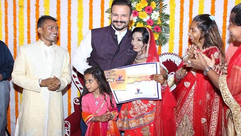 Mumbai: Vivek Oberoi couldn't have given a better wedding gift to acid attack survivor