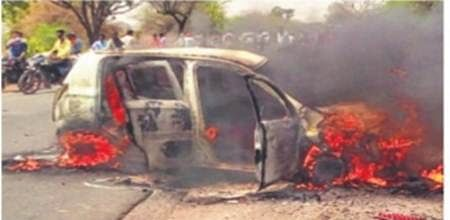 Man charred to death after moving car catches fire in Delhi