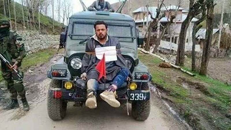 Army major who tied man to jeep in Kashmir awarded