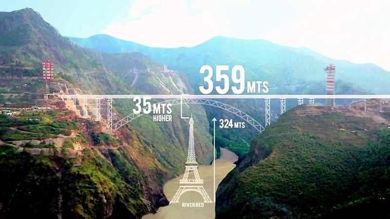 Jammu and Kashmir: Railway bridge taller than Eiffel Tower to be built over Chenab River