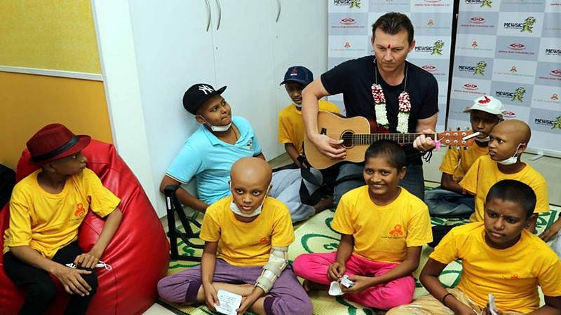 In pictures: Brett Lee join hands with St. Jude's Childcare Center to promote Music Therapy in Mumbai