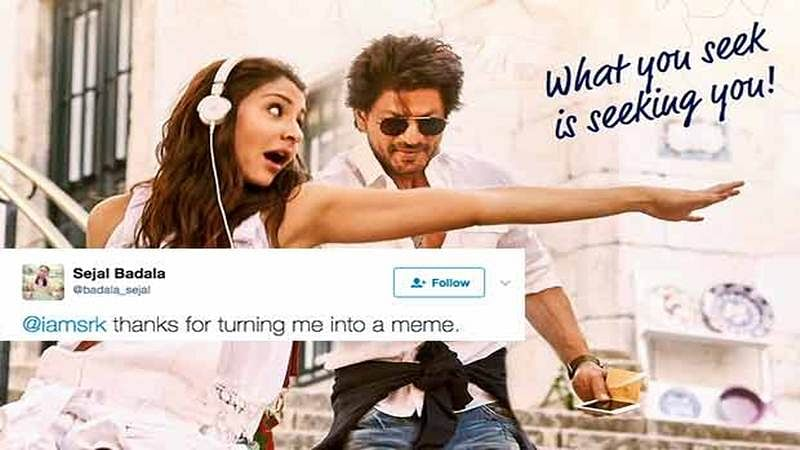 Shah Rukh trolled by a Twitter user for Jab Harry Met Sejal, here's how he responded