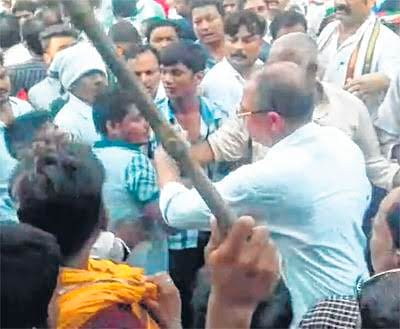 Bhopal: Congress stages massive demo in support of farmers at Sagar