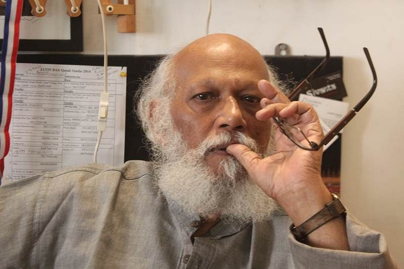 Painter Jatin Das re-sketches his journey to fame