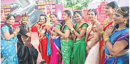 Indore: Jain Social group parties Bahubali style