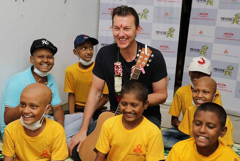 Mumbai: Brett Lee bats for young cancer patients with music therapy