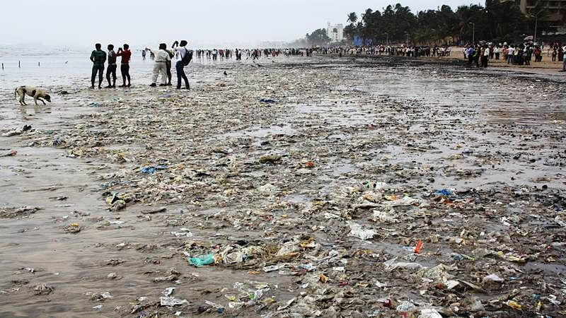 Mumbai Rains: 120 tons of garbage washed ashore on Juhu beach in three days