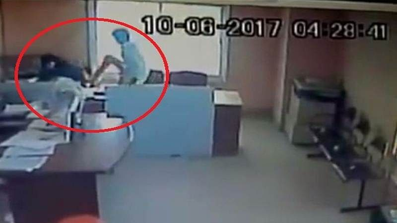 Shocking Video: Govt employee assaults Muslim woman observing Ramzan for coming to work late