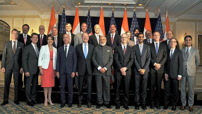 PM Modi in U.S. interacts with CEOs, talks about GST, Make in India