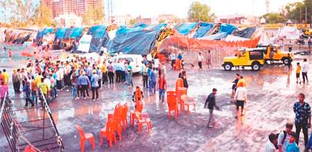 Indore: 40 hurt as pandal collapses