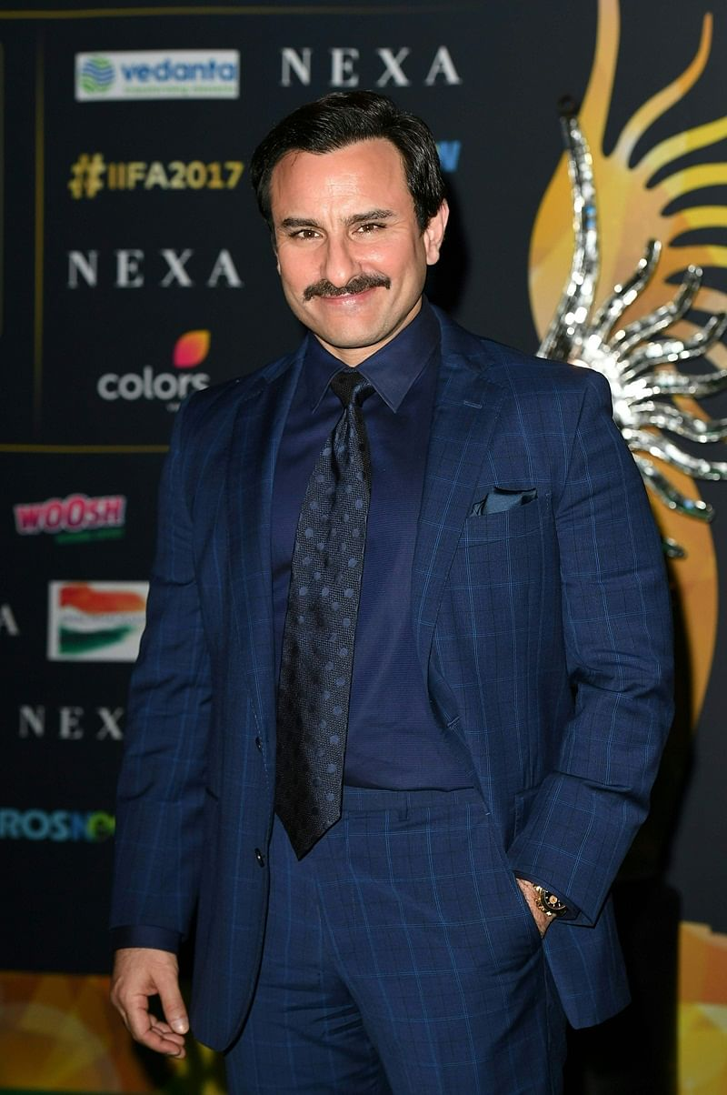 Bollywood Actor Saif Ali Khan arrives for IIFA Rocks July 14, 2017 at the MetLife Stadium in East Rutherford, New Jersey during the 18th International Indian Film Academy (IIFA) Festival. / AFP PHOTO / ANGELA WEISS