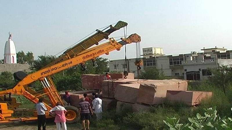 Ayodhya: Stones brought for construction of Ram Mandir