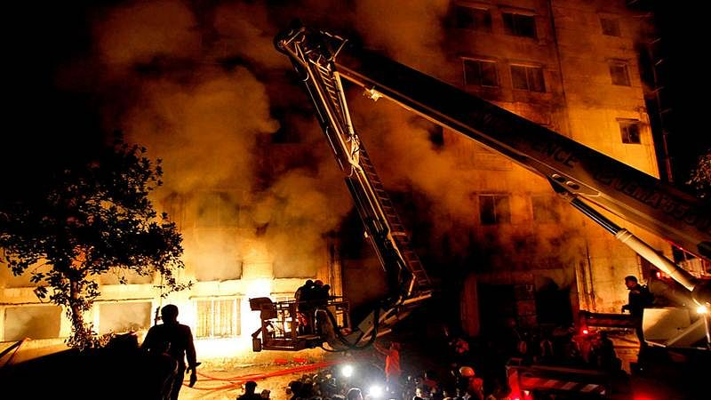 Two killed as fire sweeps hostel building