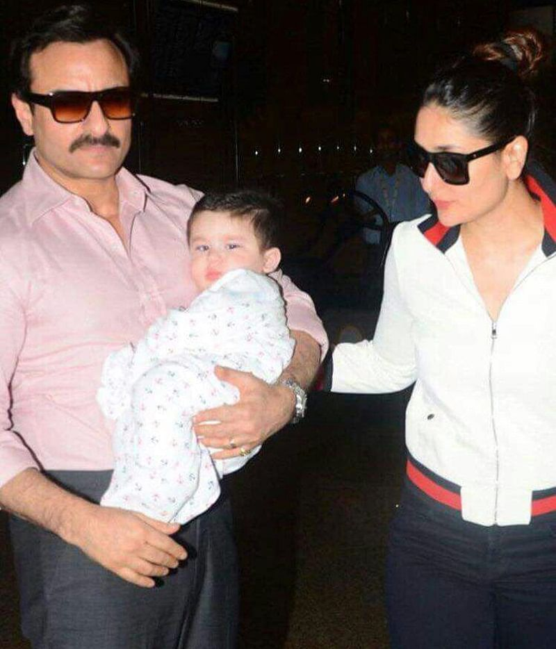 In Pics: Taimur Ali Khan's first international tour with parents Saif and Kareena