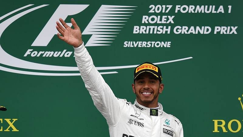 Lewis Hamilton proud to rank among F1 greats after record-equaling British GP win
