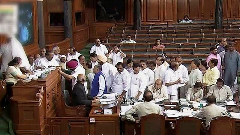 lynching issue rocks Lok Sabha: Six Cong MPs suspended for 5 days for creating ruckus