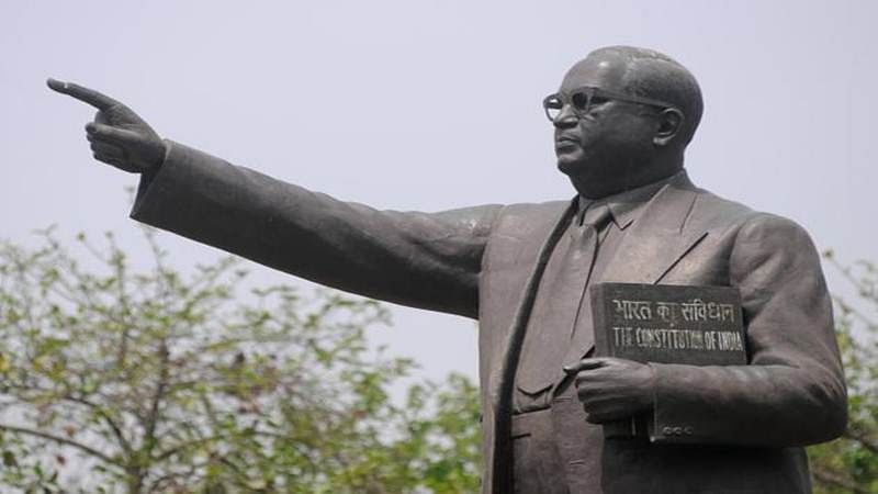 Cash-strapped couple enter wedlock before Ambedkar statue