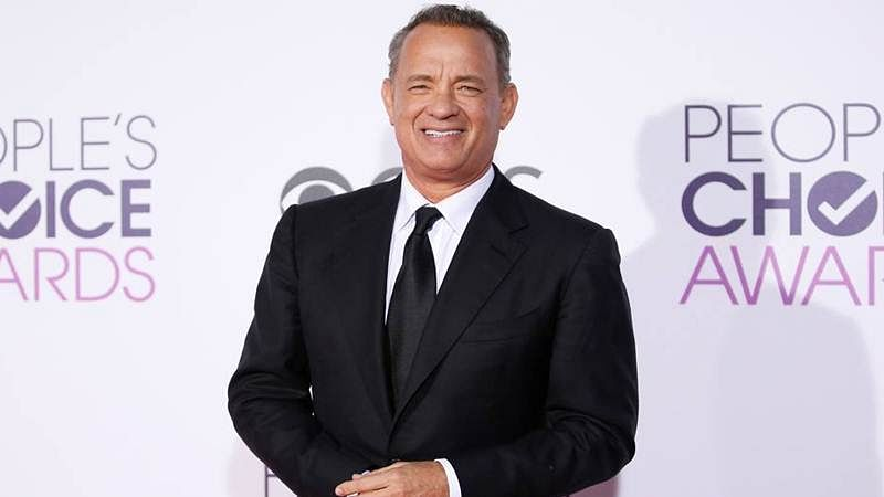 Tom Hanks gets into character for Steven Spielberg's next