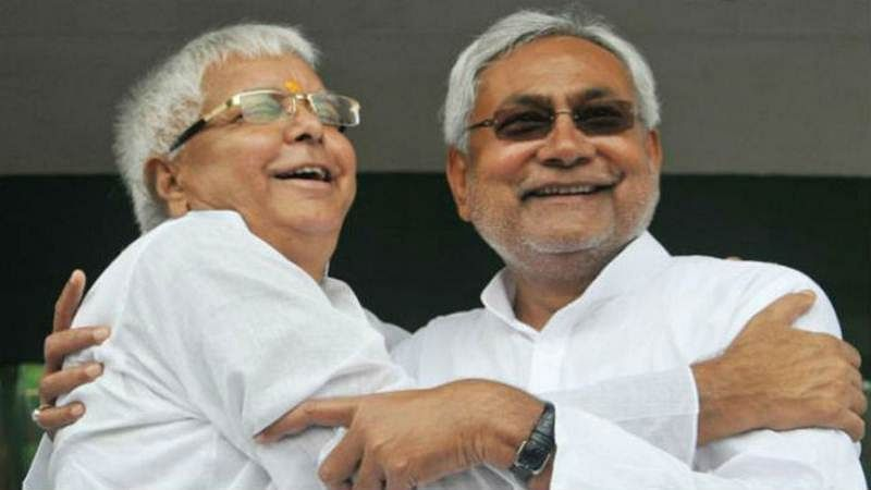 RJD MLAs protest against Nitish outside Bihar assembly
