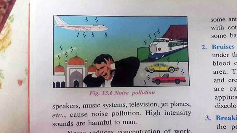 Class 6 ICSE book says mosque is noise pollutant