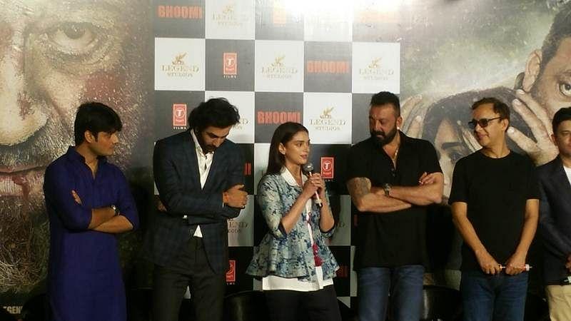 Why Sanjay Dutt got emotional at Bhoomi trailer launch