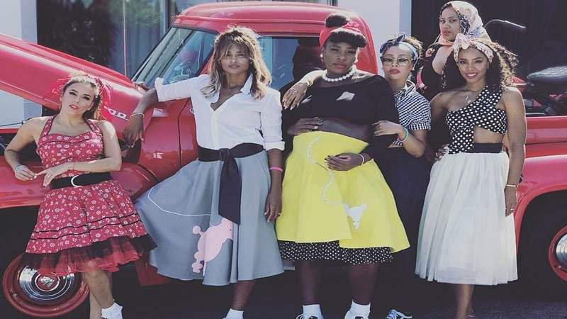Serena Williams' baby shower is a throwback to the 1950s. See pics