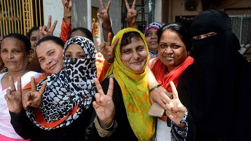 Mumbai: Muslim women celebrate Supreme Court verdict against Triple Talaq