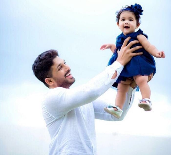 Telugu star Allu Arjun shares pic of adorable daughter Arha, image goes viral