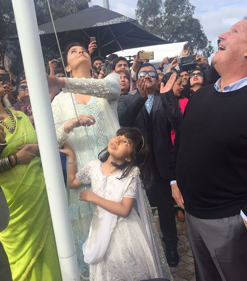 Aishwarya becomes 1st woman to raise Indian flag at IFFM2017