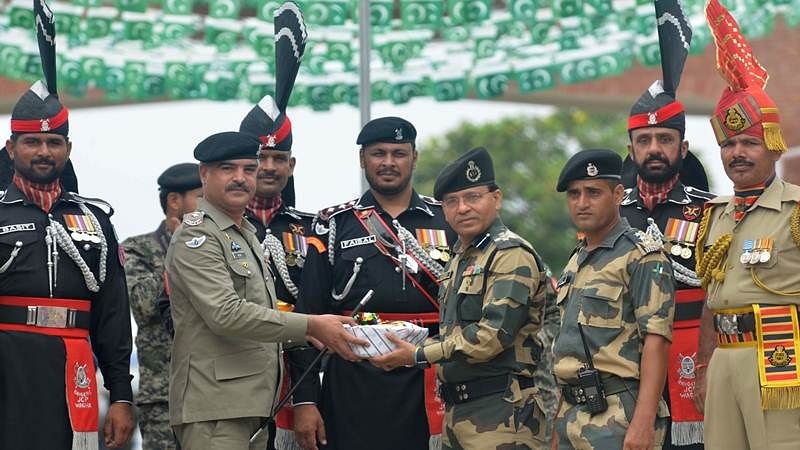 Sweets exchanged at Wagah-Attari border on Pakistan's 70th Independence Day, See Photos