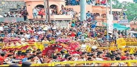 Ujjain: Massive turnout at Mahakal to witness fourth 'sawari'