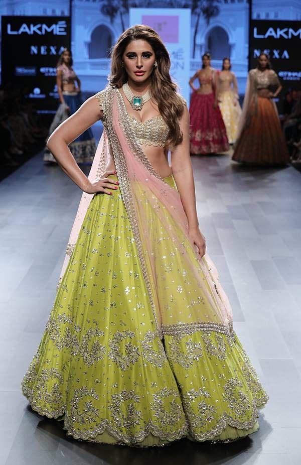 Nargis Fakhri walks for Anushree Reddy at Lakme Fashion Week WF 17