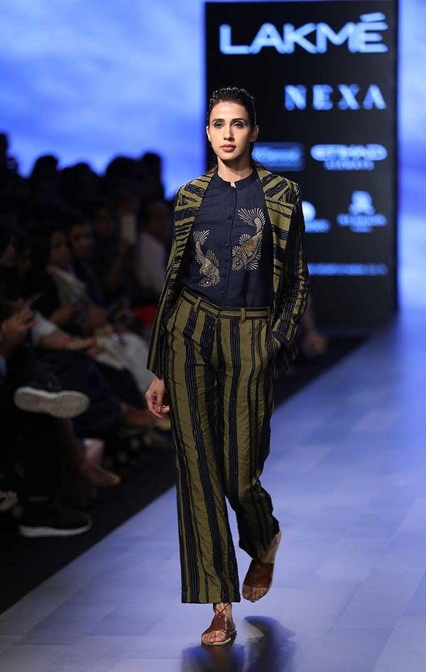Model walks for Vineet Kataria and Rahul Arya