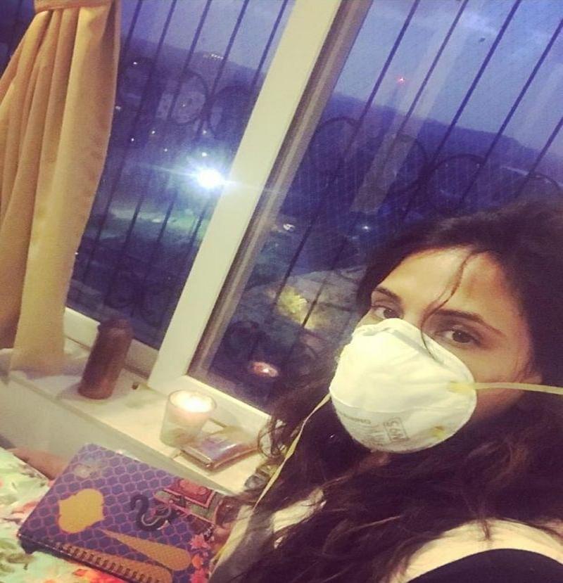 OMG! Richa Chadha down with swine flu; to attend Fukrey Returns' trailer launch wearing a mask