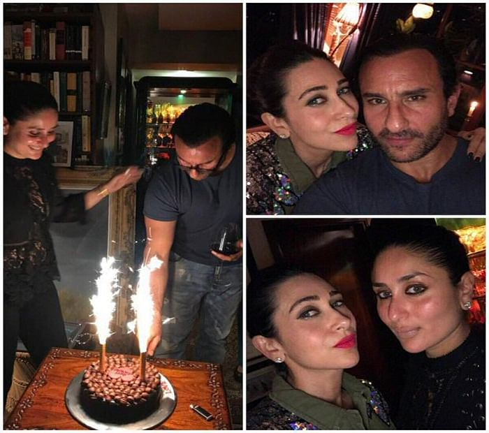 Kareena Kapoor Khan, Karisma Kapoor, Sara Ali Khan, Ibrahim and Soha Ali Khan celebrate Saif Ali Khan's birthday!