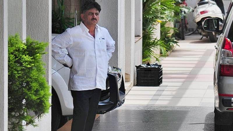 Karnataka minister D KShivakumar appears before IT department