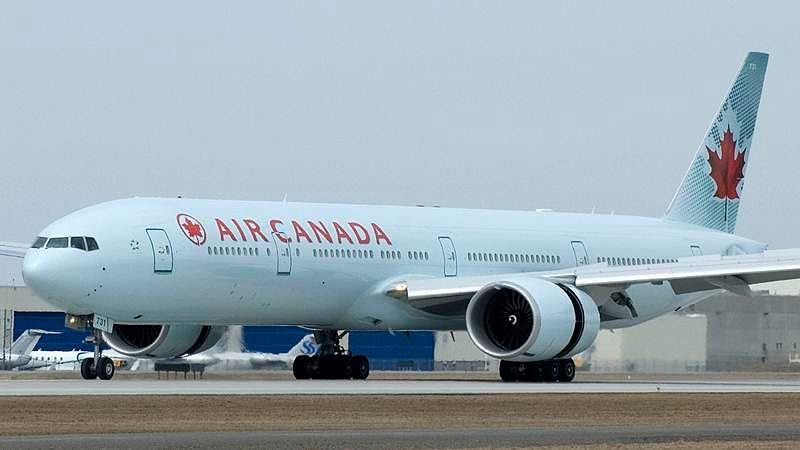 Two airplanes clip wings at Toronto airport