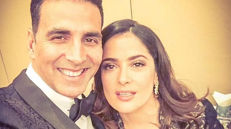 Salma Hayek wishes luck to Akshay for 'Toilet: Ek Prem Katha'