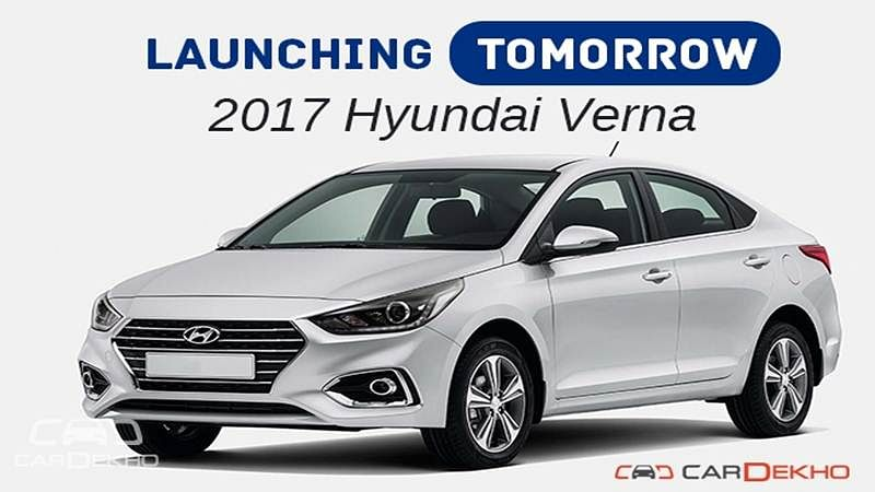 Launching Tomorrow: 2017 Hyundai Verna
