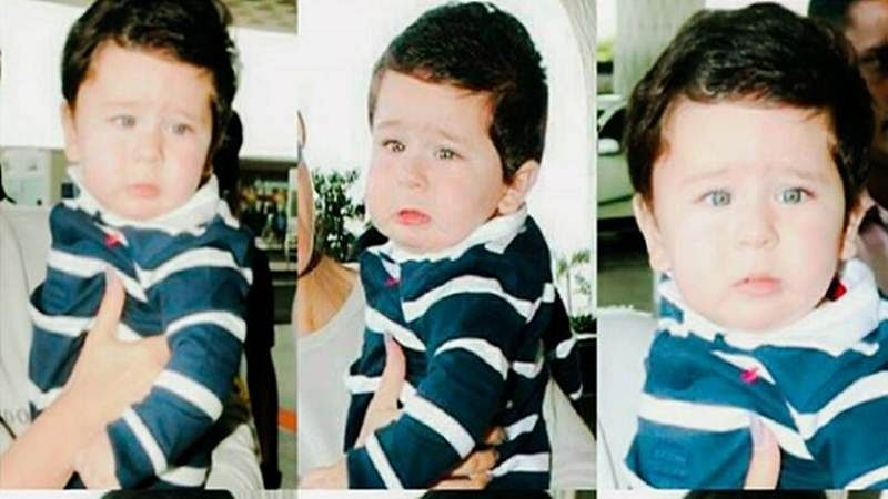 In pictures: Taimur burst out in tears and he looks so adorable