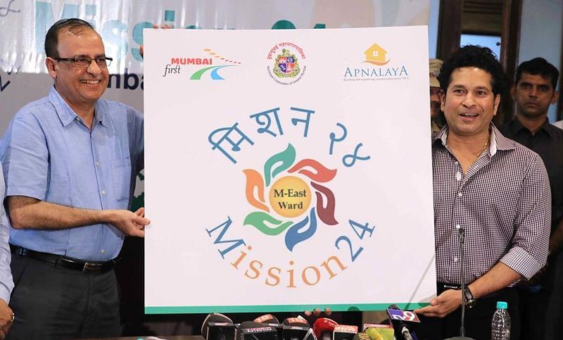 Mumbai: M-east ward gets 'Mission 24' an initiative by BMC, was launched by Sachin Tendulkar
