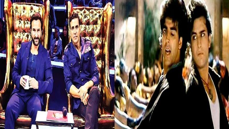Let's Dance! 'Main Khiladi Tu Anari' jodi Akshay Kumar and Saif Ali Khan shake a leg with crowd