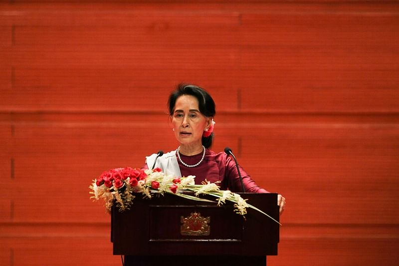 Rohingya crisis: Aung San Suu Kyi expresses sadness for suffering of all groups in Rakhine