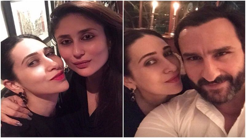 In Pictures: Karisma Kapoor spends quality time on a dinner date with Kareena Kapoor Khan and Saif Ali Khan