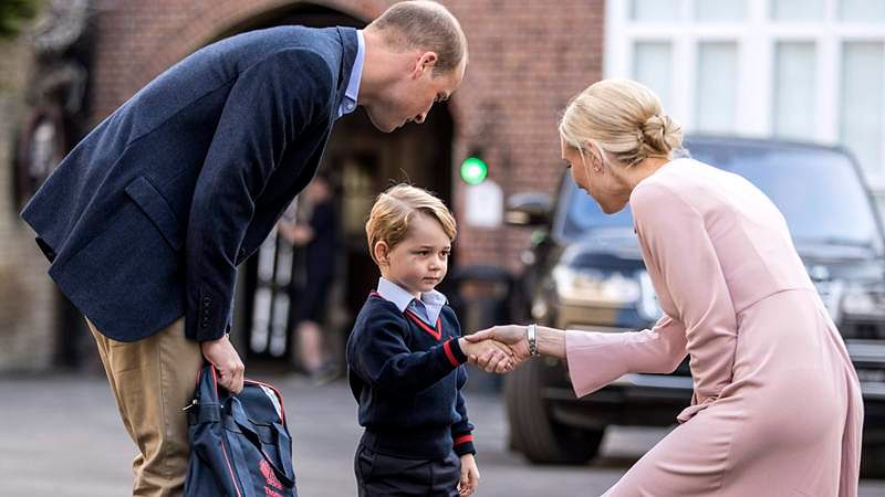 UK's Prince George starts school in London, Kate missed the occasion