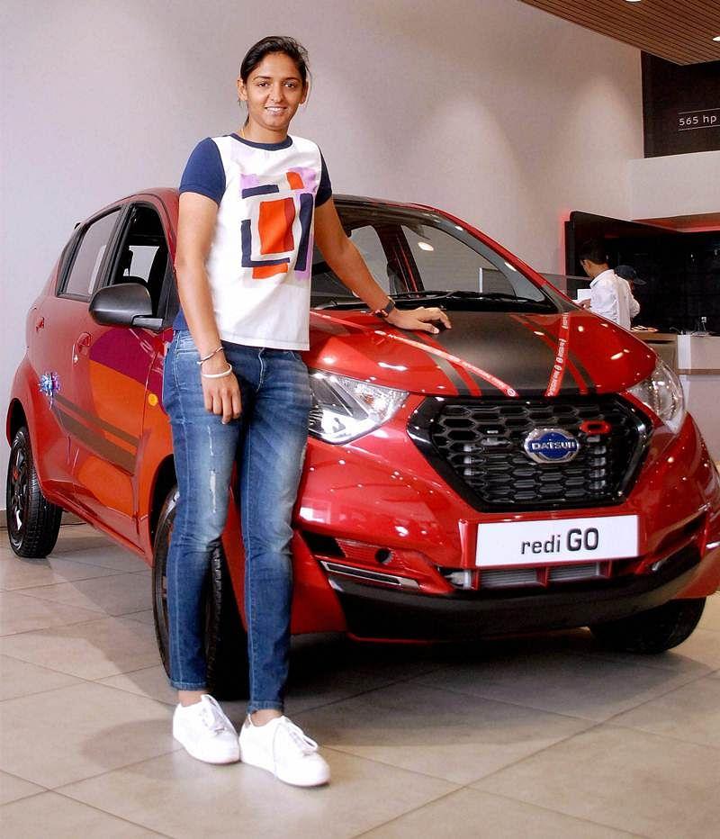 Harmanpreet Kaur presented with Datsun redi-GO car for World Cup show
