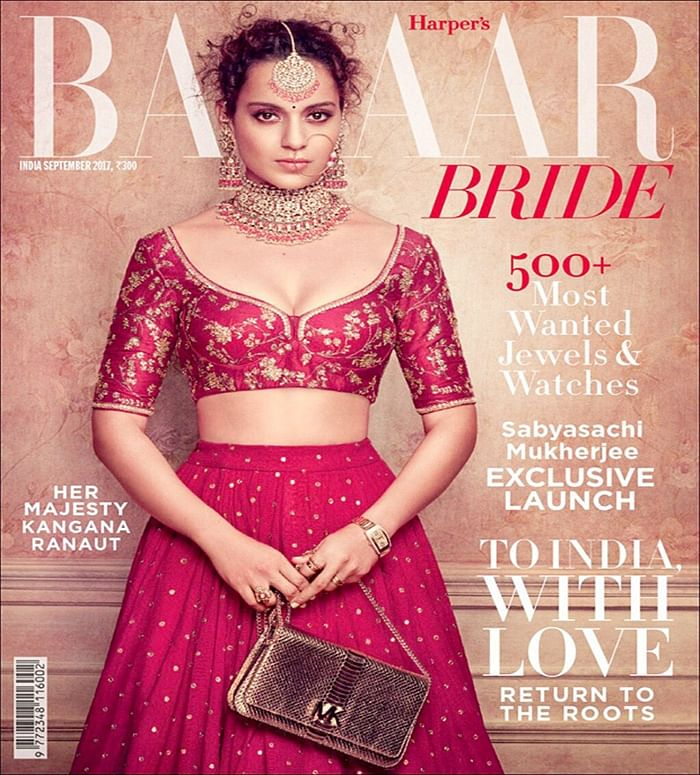 Check out: Kangana Ranaut looks like a royal bride on the cover of Harper's Bazaar Bride