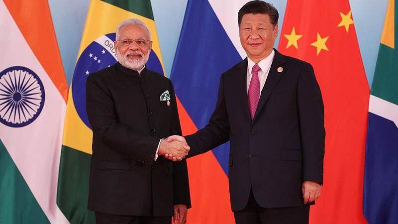 BRICS Summit 2017: Chinese Prez meets PM Modi, recounts Panchsheel, its principles